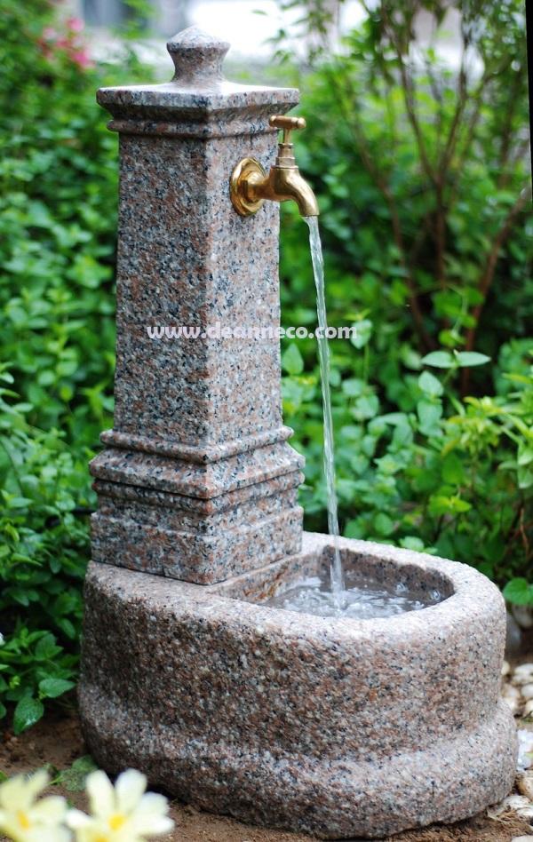 Indoor Amp Outdoor Natural Solid Granite Water Tap Element