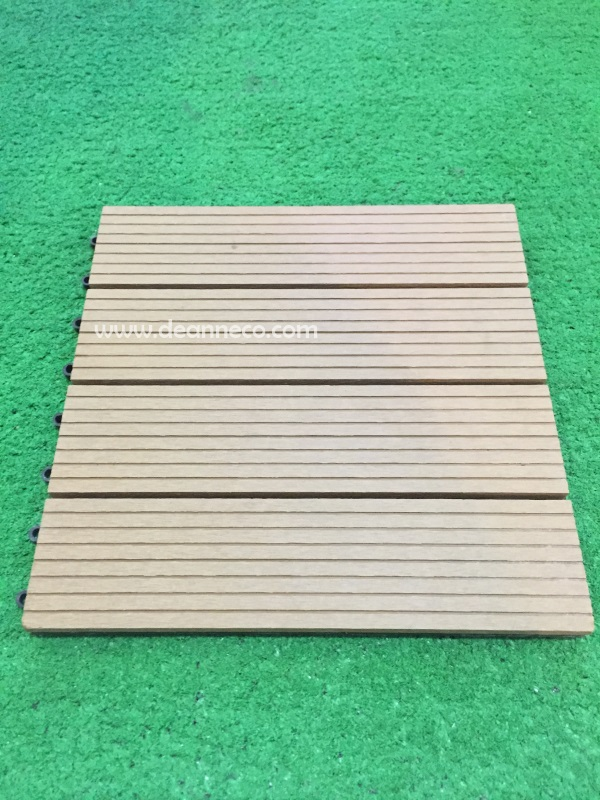 D I Y Interlocking Composite Decking Tiles Light Brown