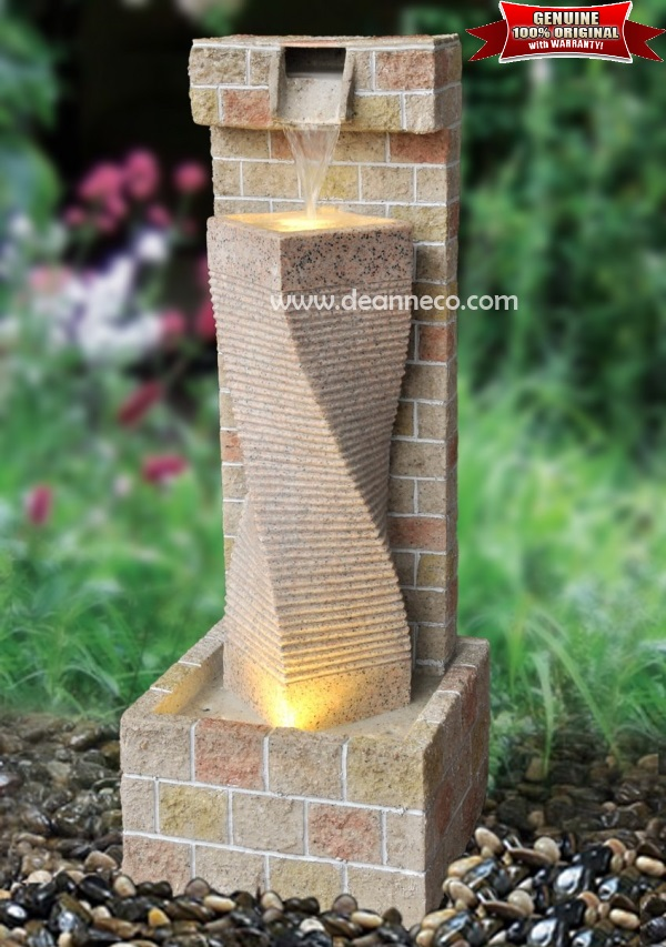 Brick Wall Finish Floor Water Fountain Water Features