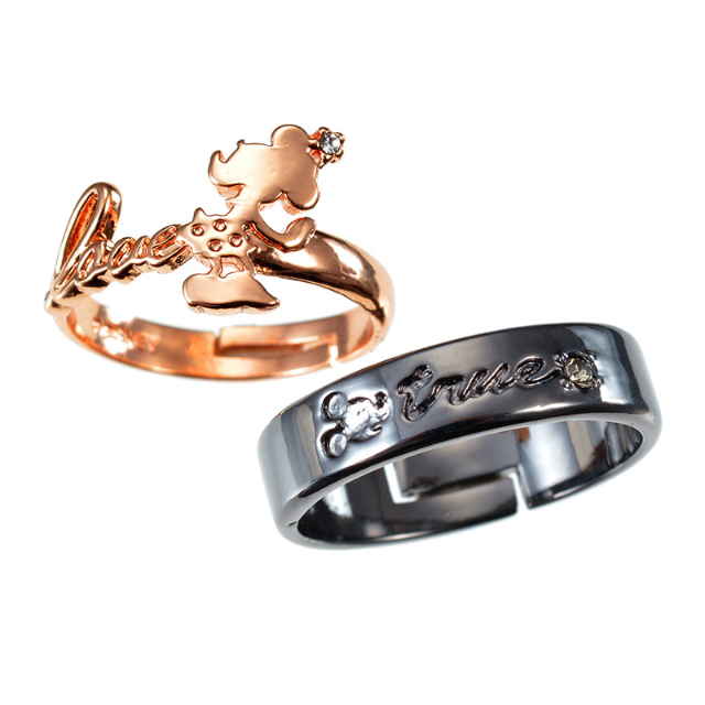a70d6c65f Japan Disney store Disneystore Jewel Mickey Mouse & Minnie Mouse Couple  pair rings