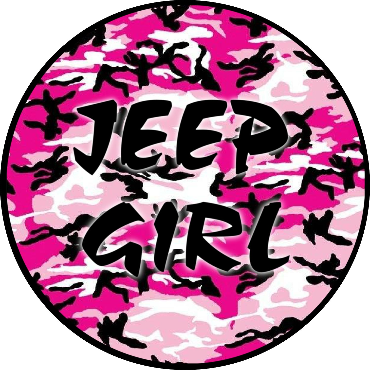 Pink Camo Jeep Tire Cover