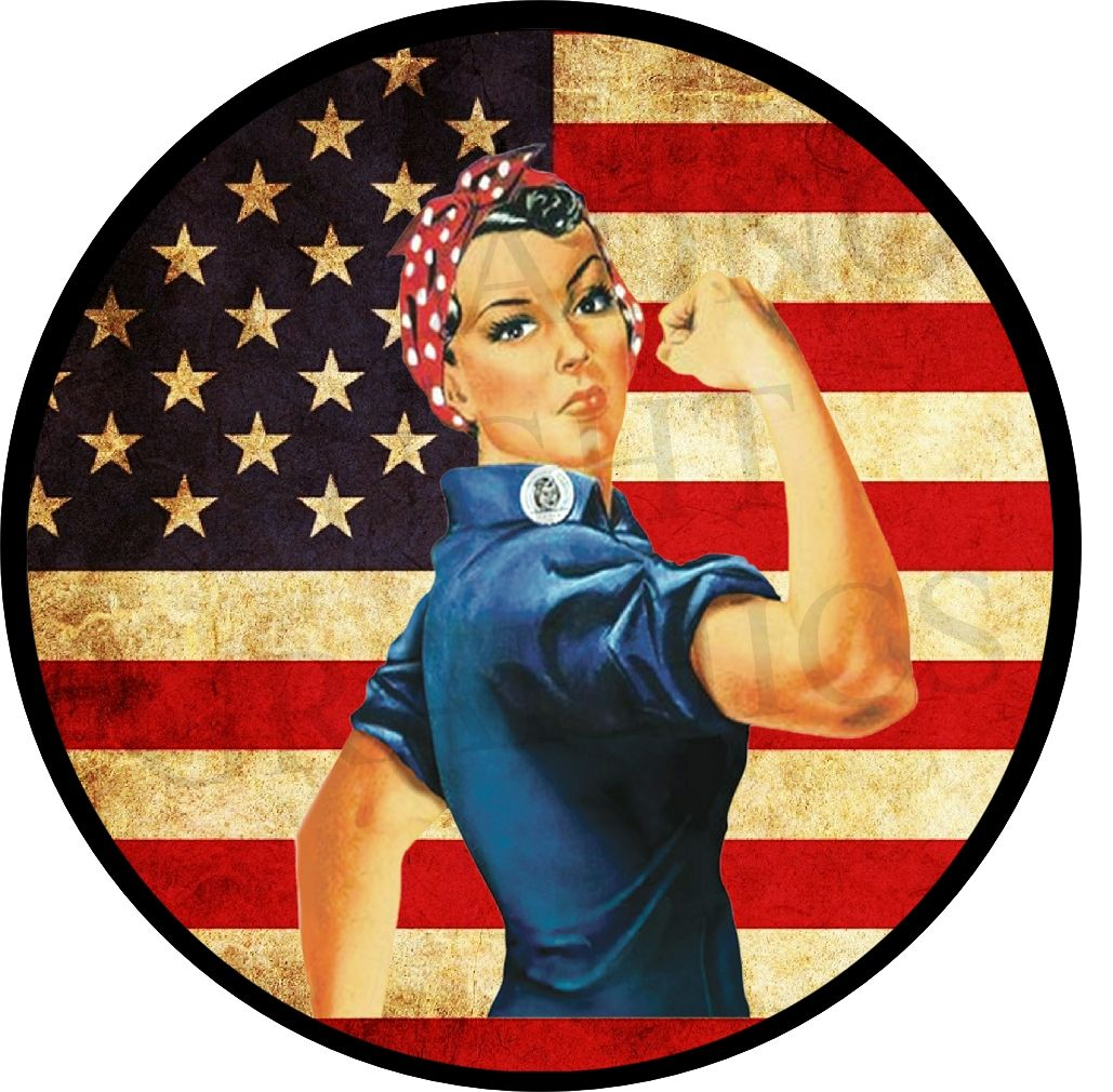 Rosie the Riveter Spare Tire Cover