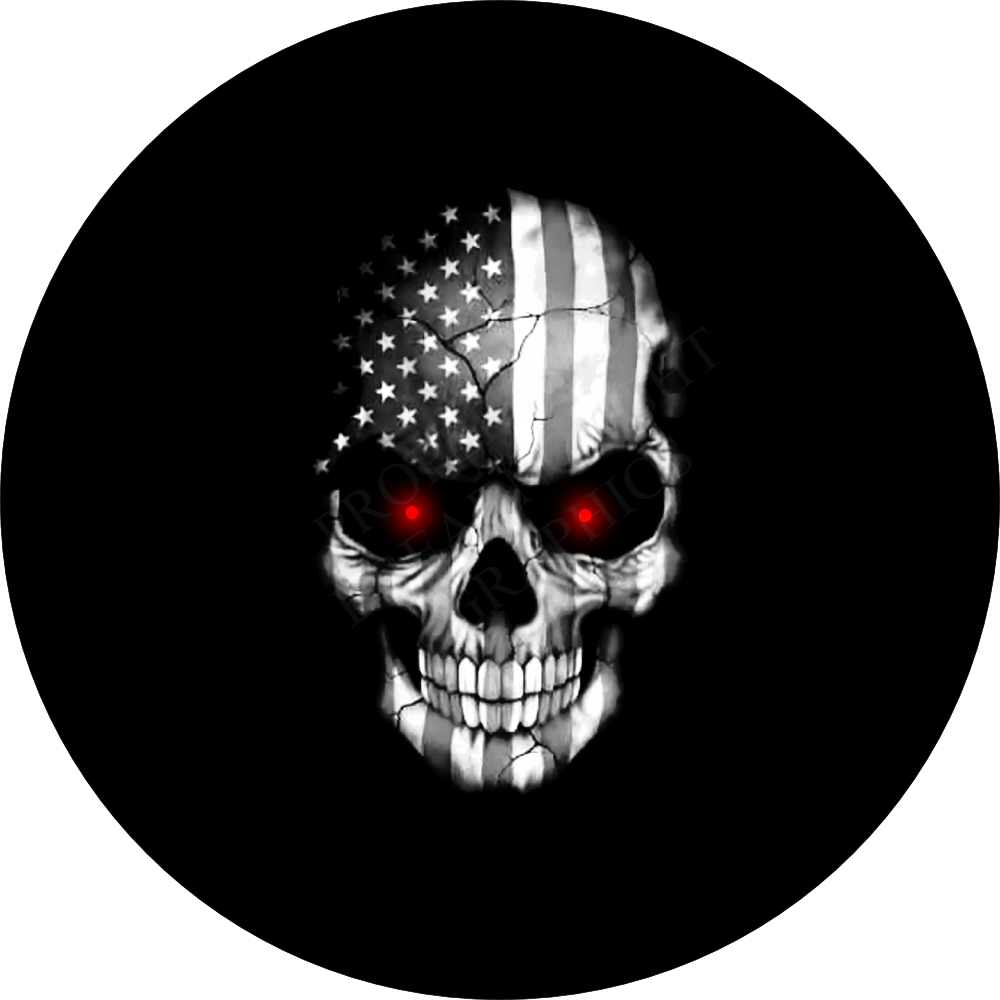 Black and white flag skull with red eyes - Wallpaper 600x600 ...