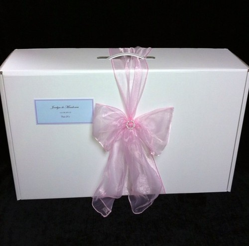 Wedding Preservation Boxes: Large Organza Bow Wedding Dress Box