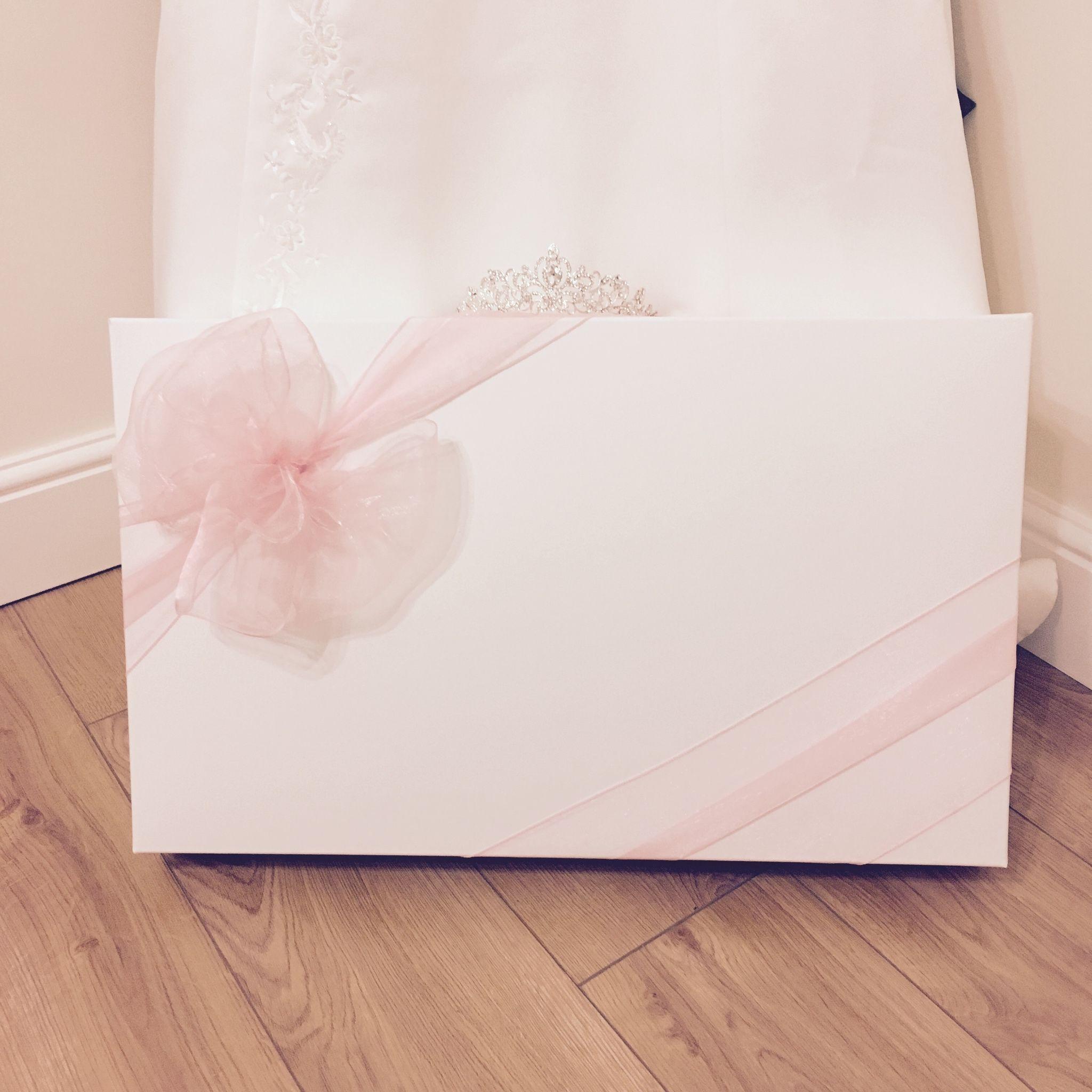Large Organza Bow Wedding Dress Box