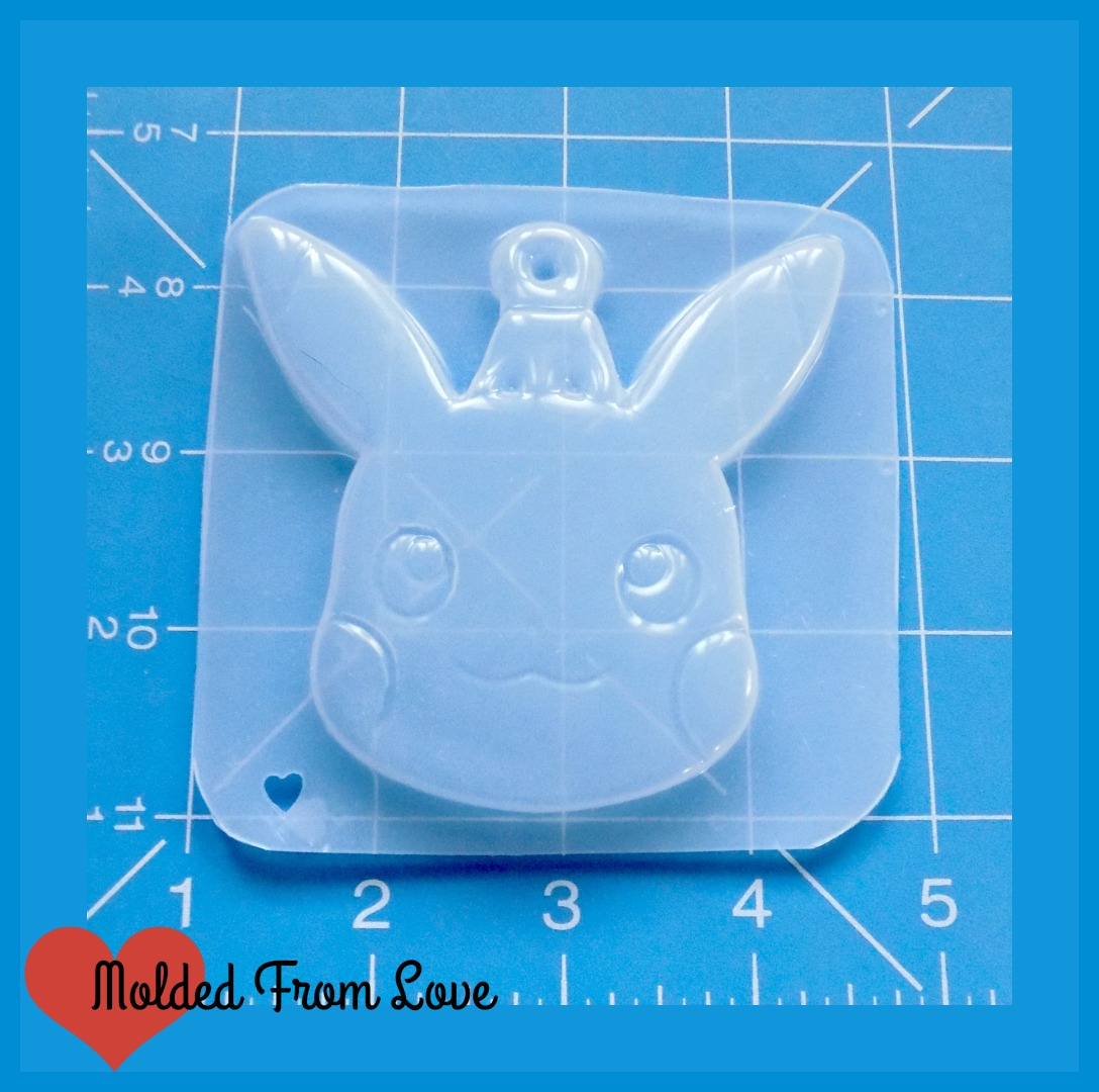 Pikachu Christmas Ornament.Pikachu Large Christmas Ornament Handmade Plastic Mold