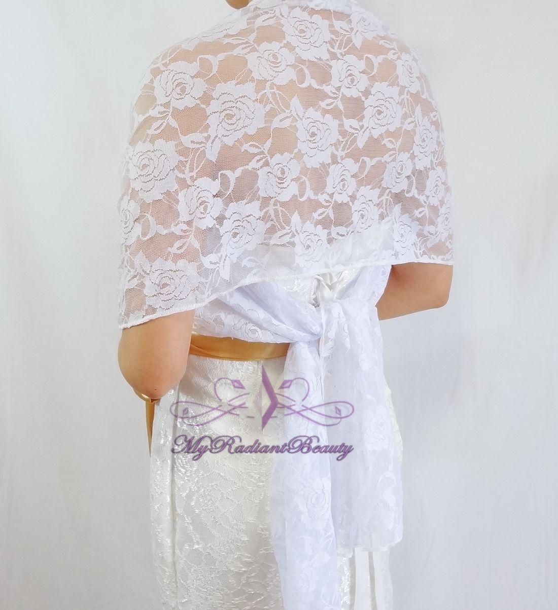 bridal lace wrap stole white lace shawl bridal silk lace
