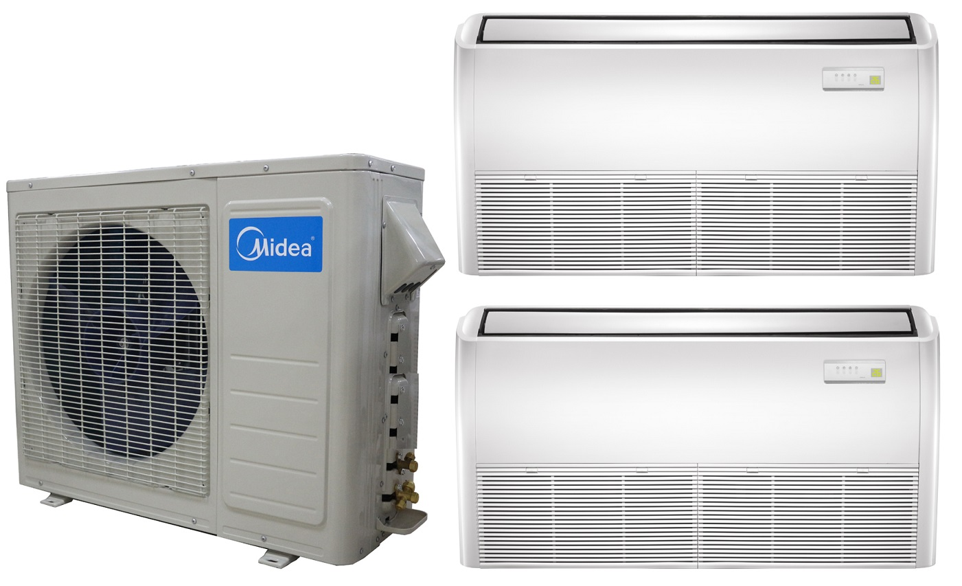 #165EB5 Midea Dual Zone 12k Ceiling Cassette Mini Split Heat Pump AC 2017 14572 Wall Pack Air Conditioner Puerto Rico photo with 1401x853 px on helpvideos.info - Air Conditioners, Air Coolers and more