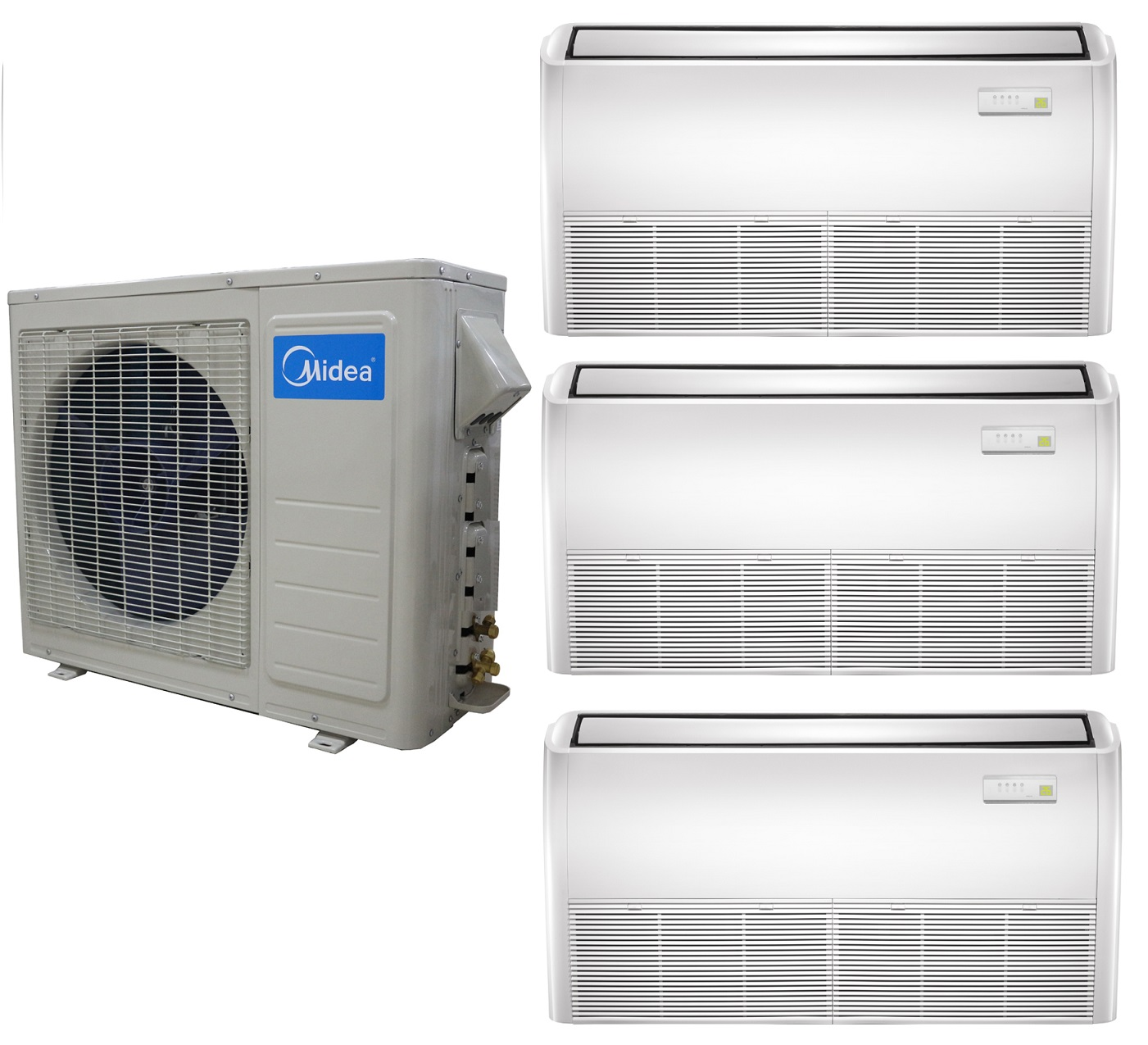 #165EB5 Midea 21 SEER 3 Zone Universal Mount Mini Split Heat Pump  Highest Rated 14346 Top Rated Mini Split Air Conditioners img with 1401x1275 px on helpvideos.info - Air Conditioners, Air Coolers and more