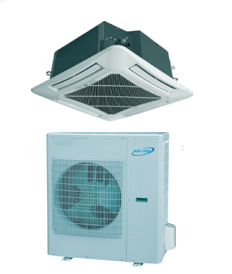 Aircon Cassete Mini Split Heat Pump 18 Seer 24 000 Btu