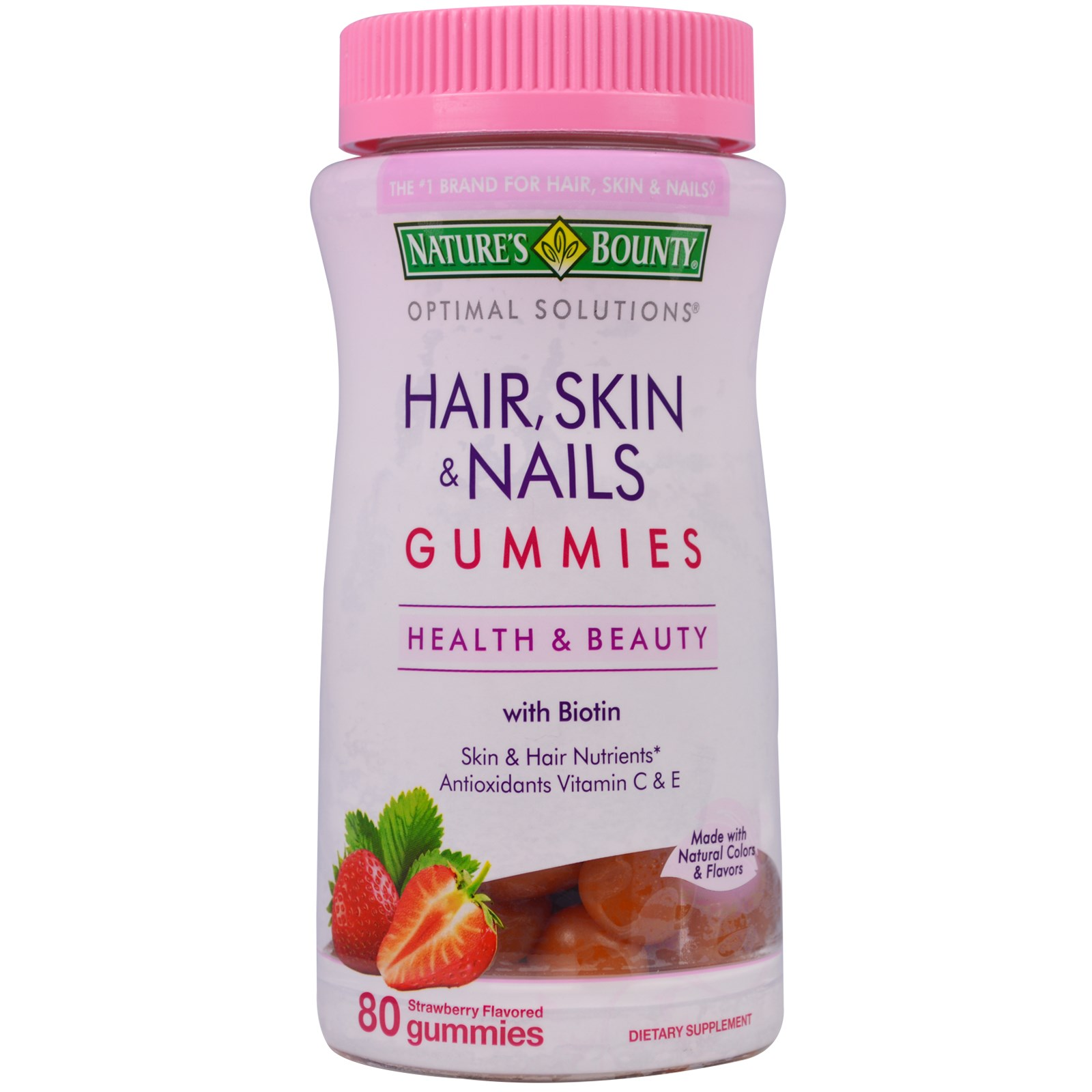 nature s bounty hair skin nails gummies strawberry