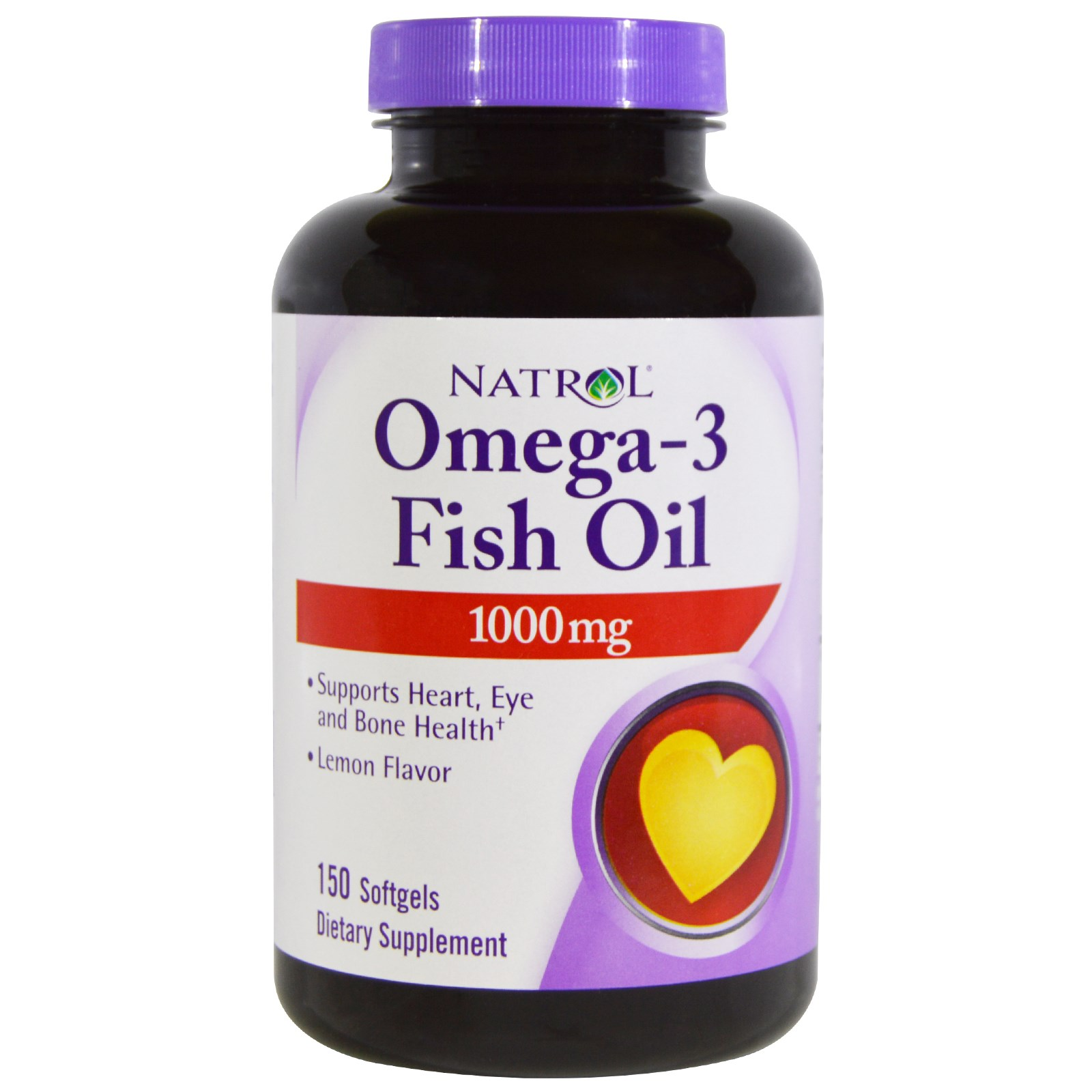 Natrol omega 3 fish oil lemon flavor 1 000 mg 150 softgels for Fish omega 3