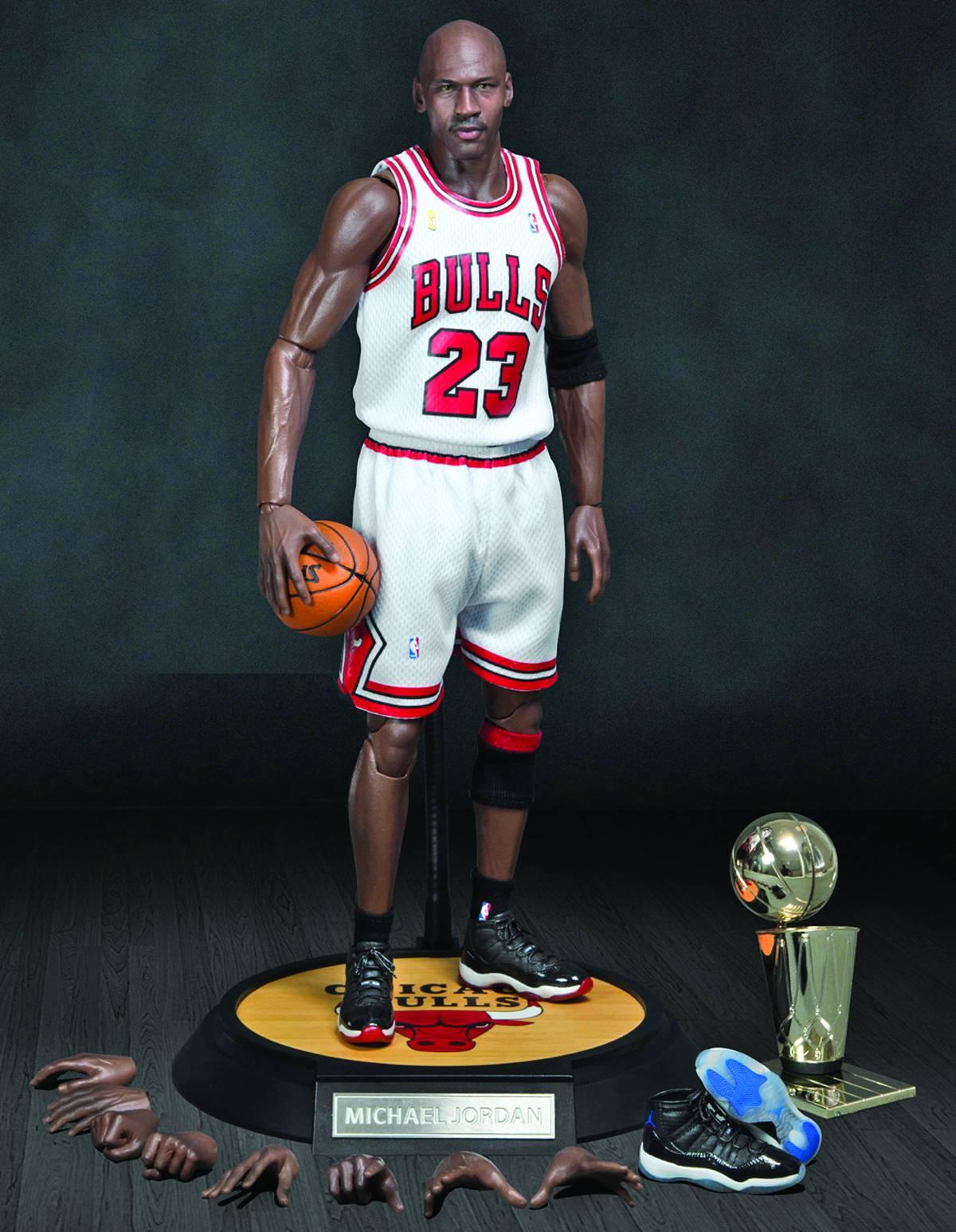 Michael Jordan Bulls 23 Red Jersey Real Masterpiece Figure Enterbay Real  Masterpiece NBA Collec 9de3f1c8a