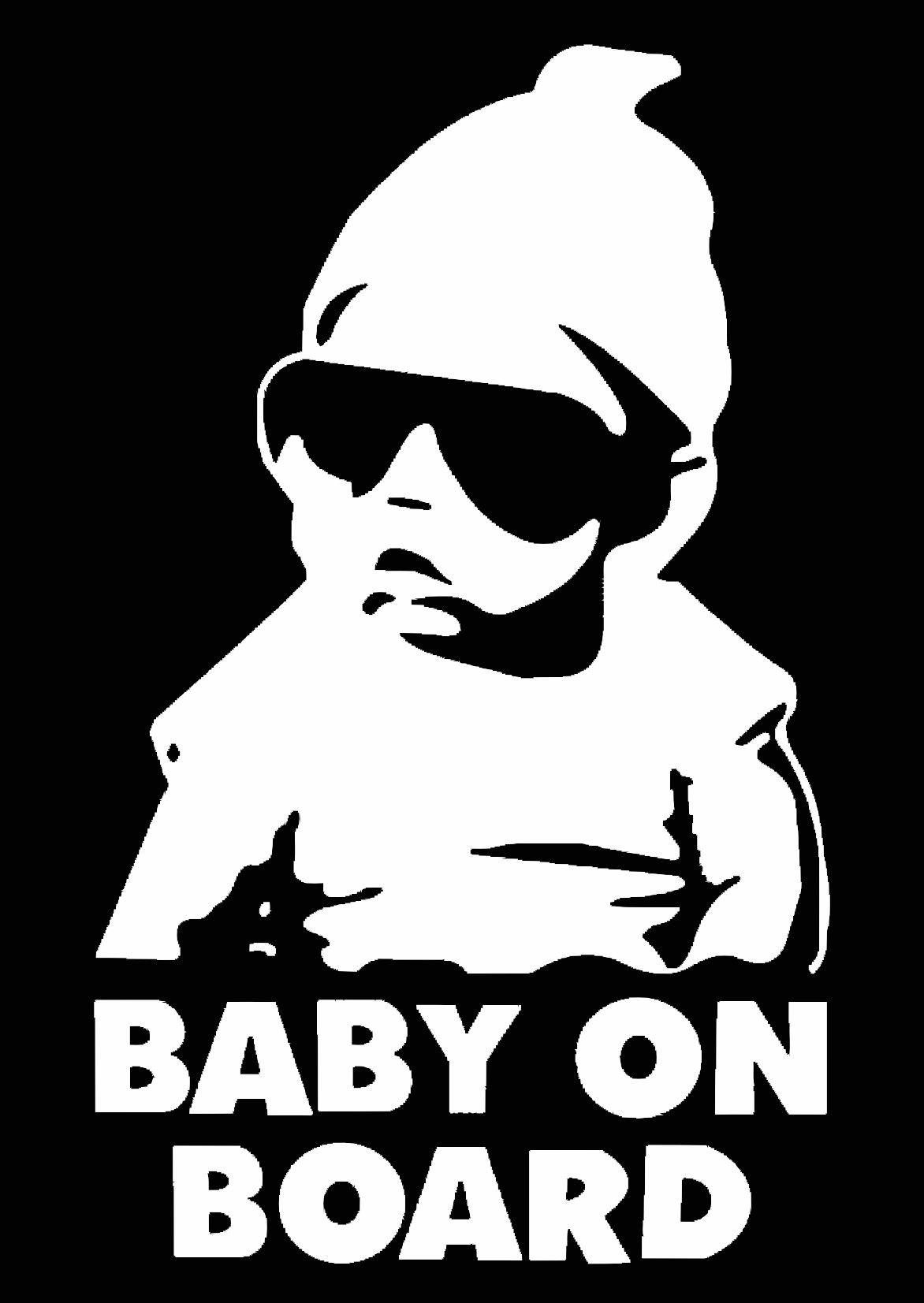 Baby On Board Cool Dude Sticker