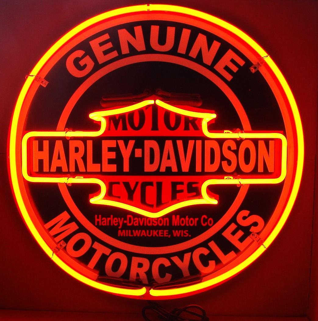 24 inch Harley Davidson Double Neon