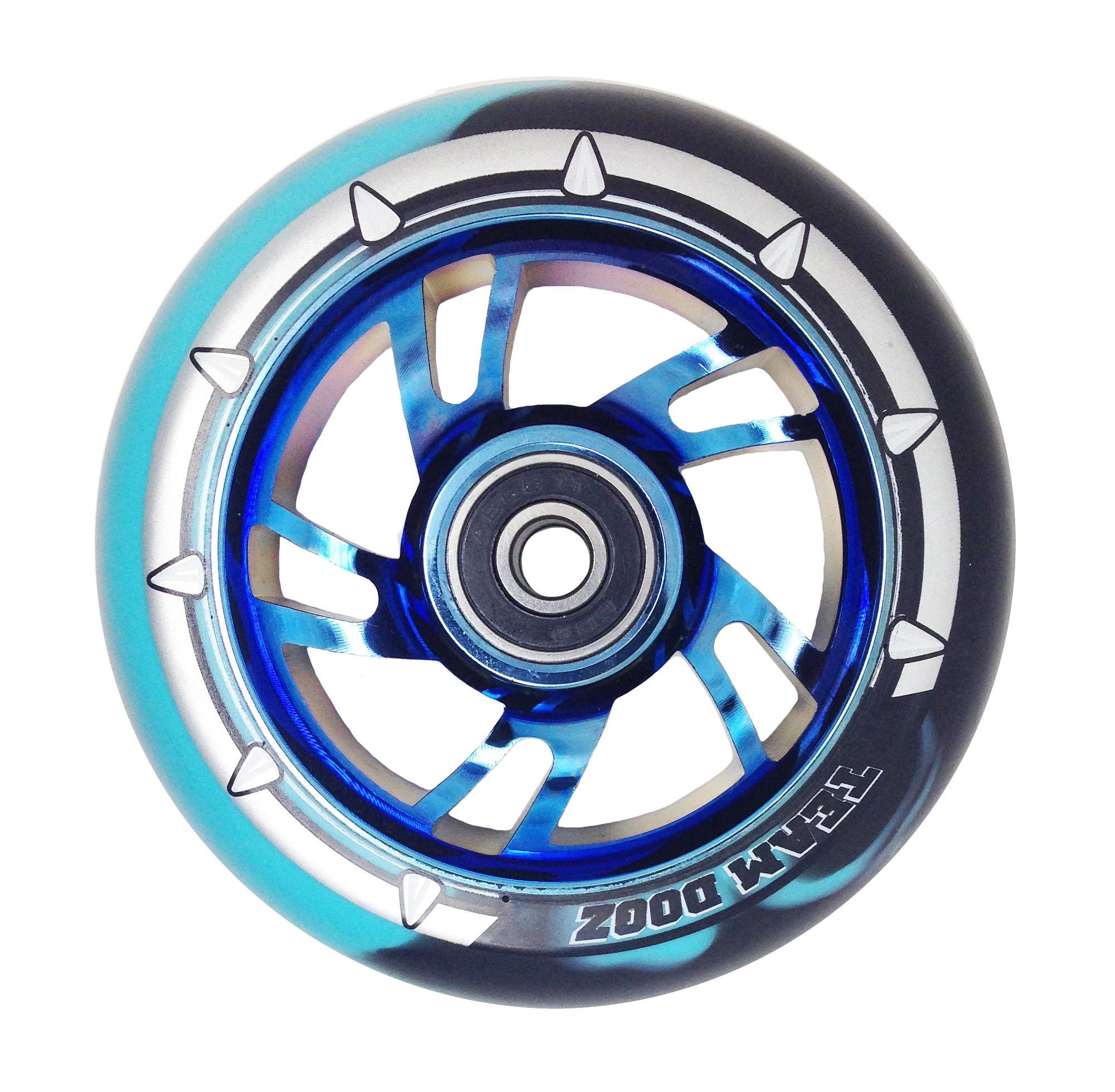 Chrome Core Mixed Colour PU Wheel
