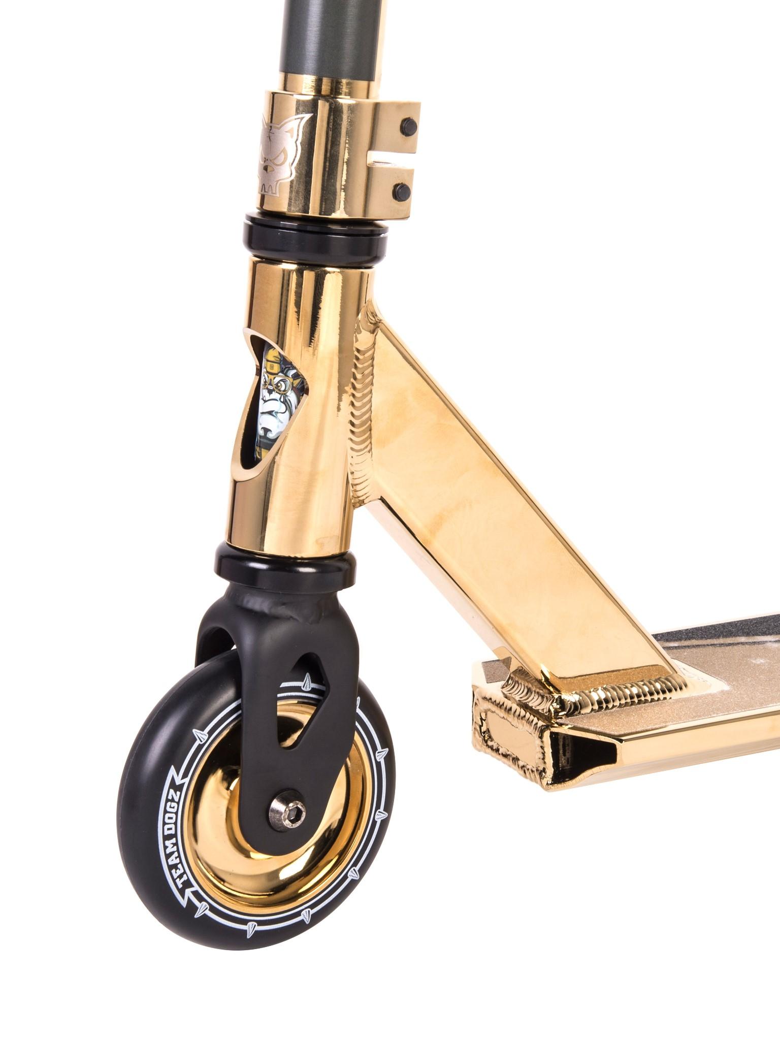 Team Dogz Pro X Chrome Gold Stunt Scooter