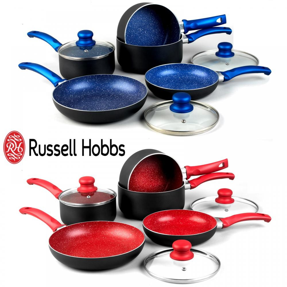 Russell Hobbs 8 Piece Non Stick Induction Stone Pan Set
