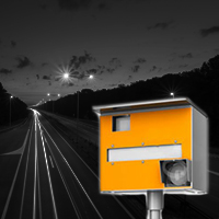 Drunk electrician tried to cut down speed camera