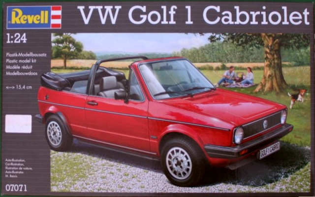 revell vw golf 1 cabriolet 1 24 07071. Black Bedroom Furniture Sets. Home Design Ideas