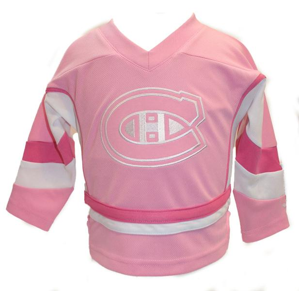 Reebok Montreal Canadiens Pink Kids Jersey fe964a121a1
