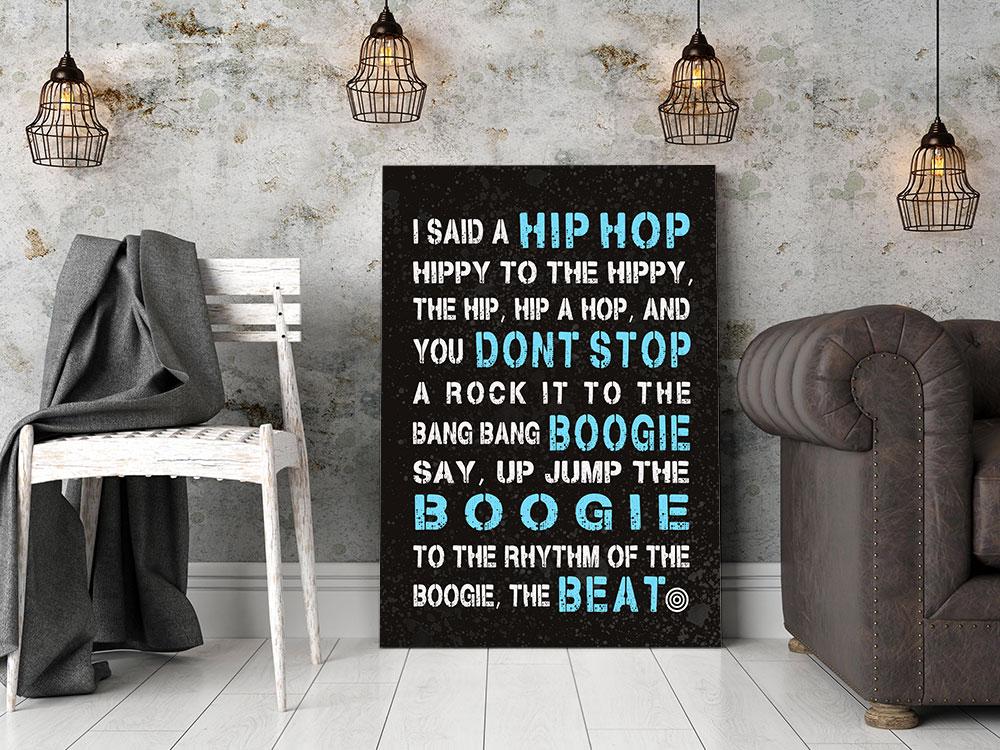 Sugar Hill Gang Rapper's delight Lyrics Typographic Wall Art