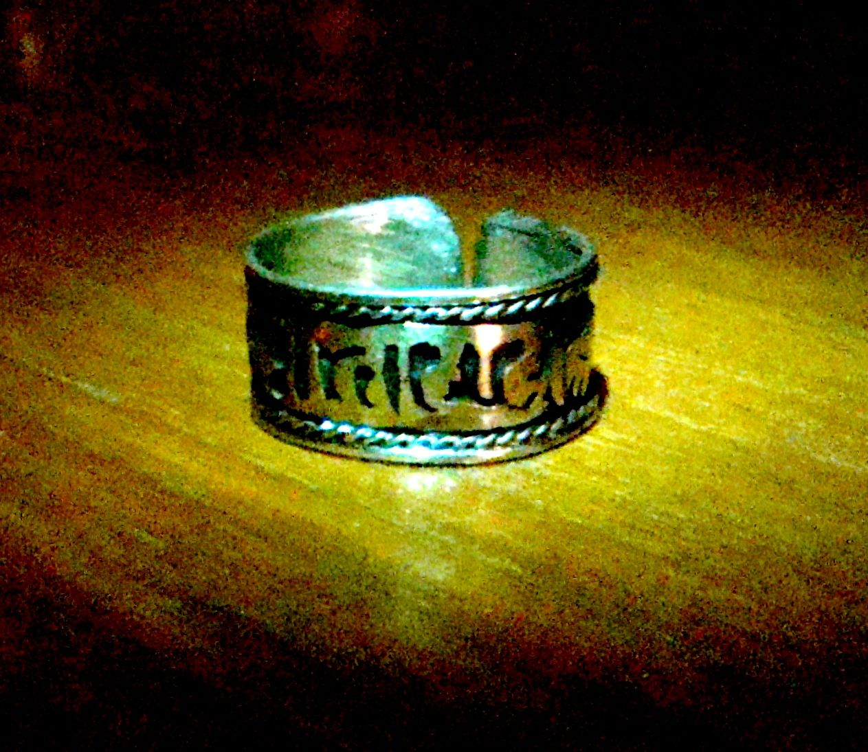 Radionic Sigil Ring of Wealth and Protection