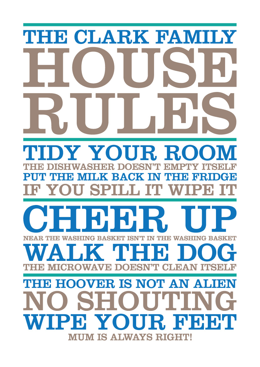 family house rules choice image
