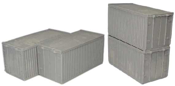 4x 15mm Shipping Containers