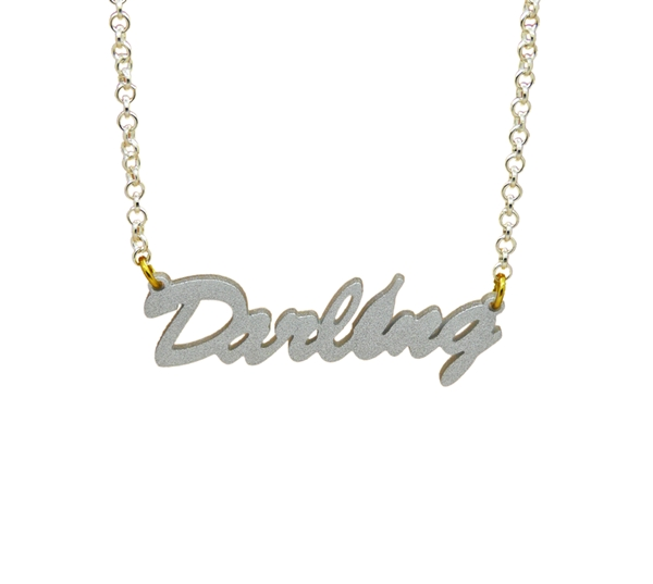 necklace word gold products little sterling daisy name large or silver hashtag