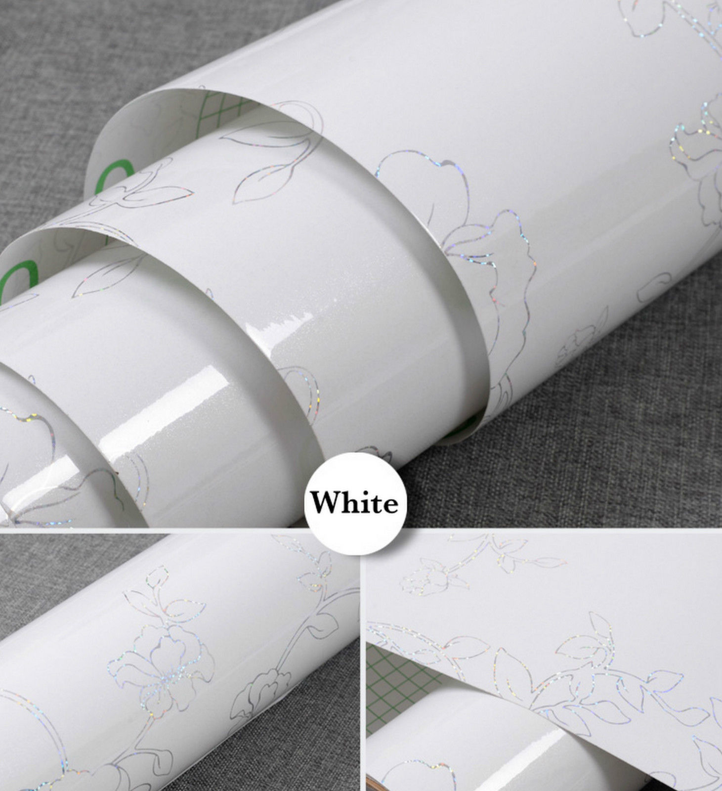 Deco Vinyl Floral Sticky Back Plastic Self Adhesive Film