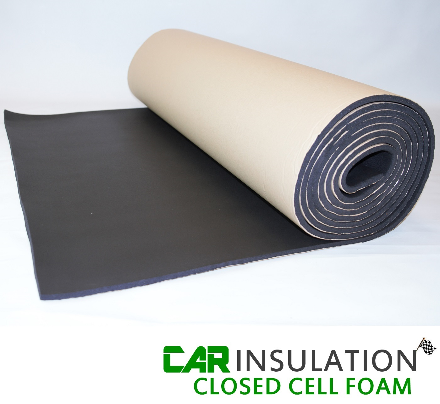 5m Roll 10mm Black Closed Cell Foam Waterproof Sound Proofing