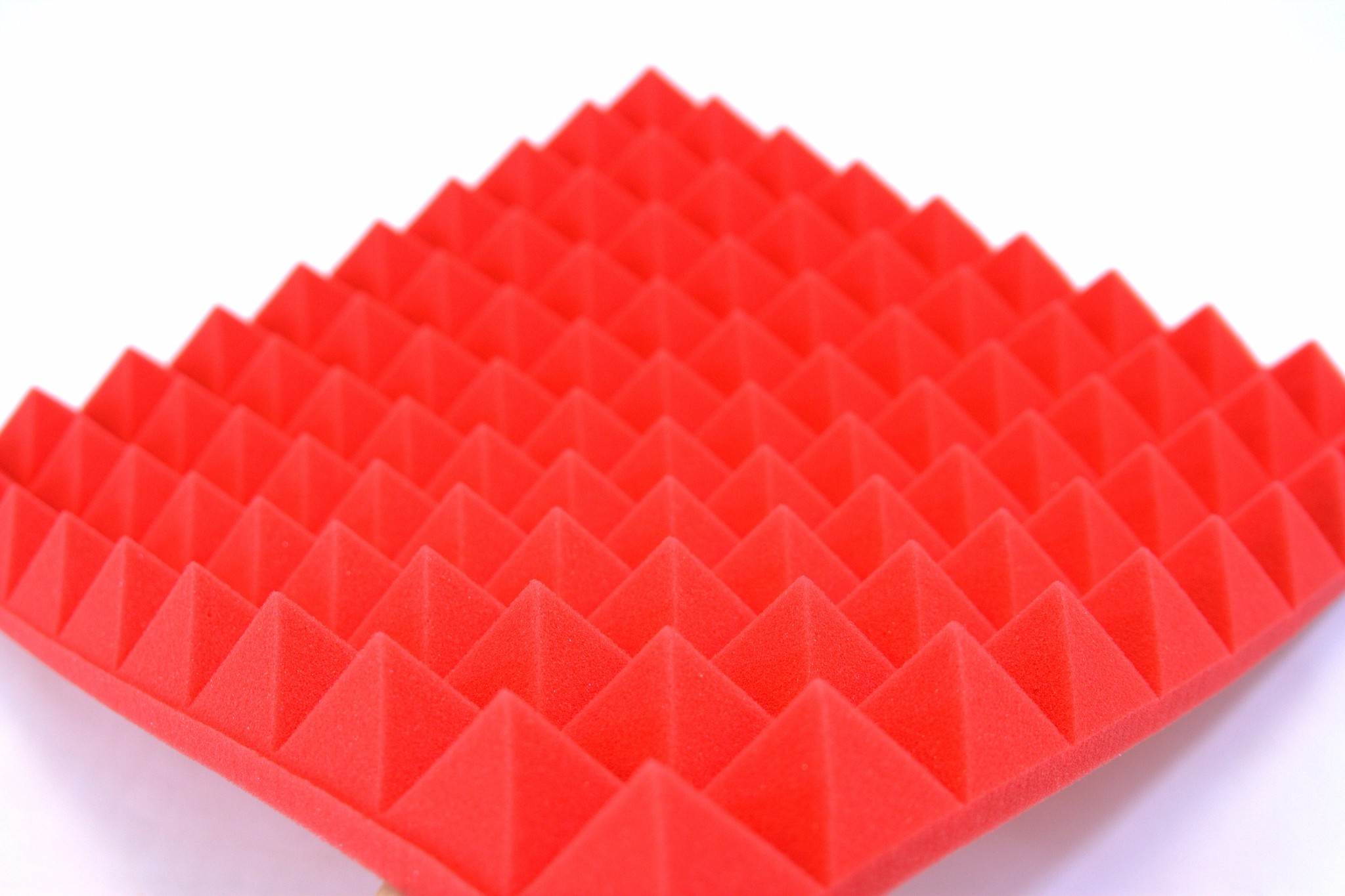 B1 Fire Rated Red Profiled Insulation Foam 50mm Pyramid Spike