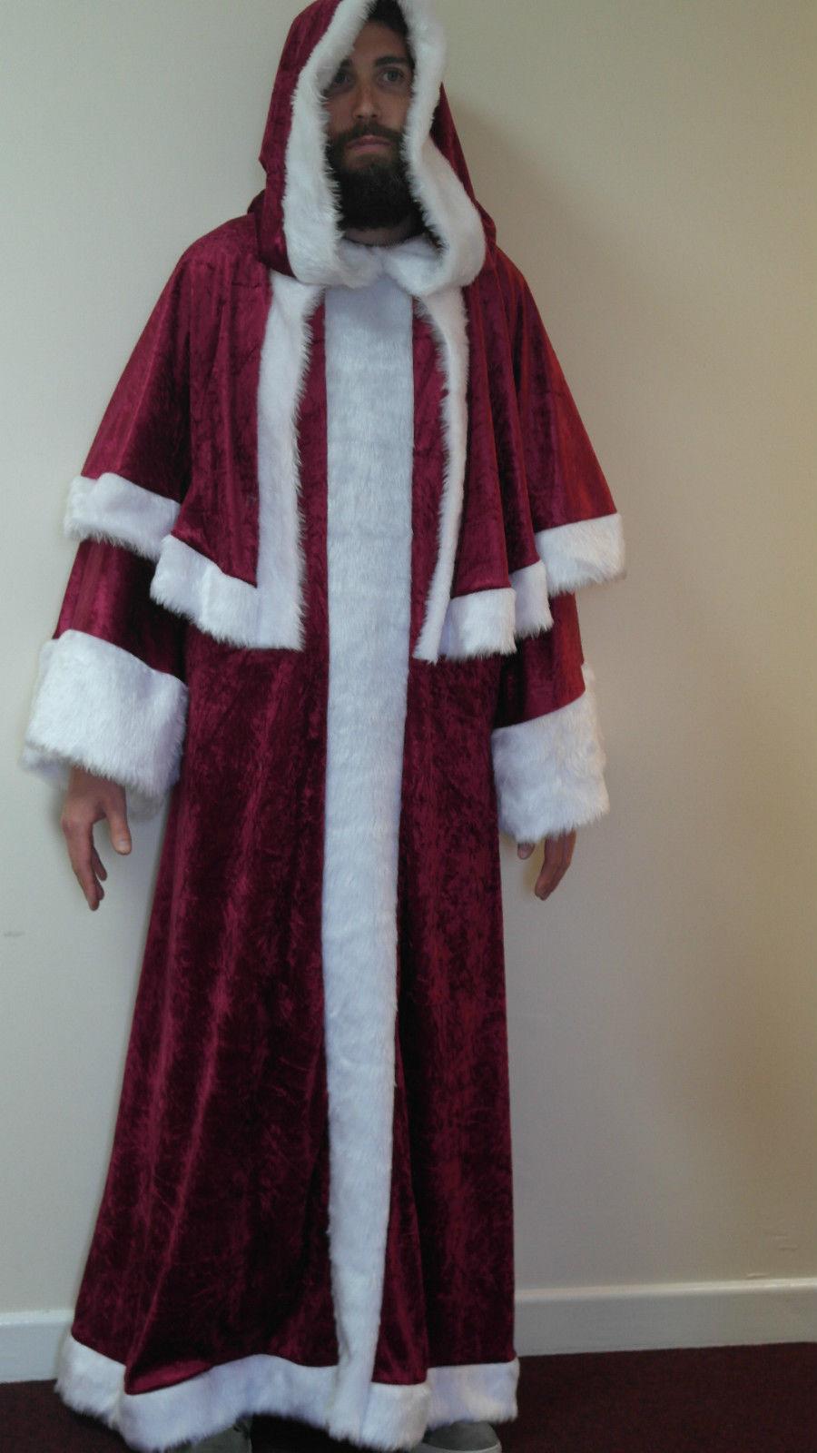 Father Christmas Pull On Velvet Robe Santa Clause St