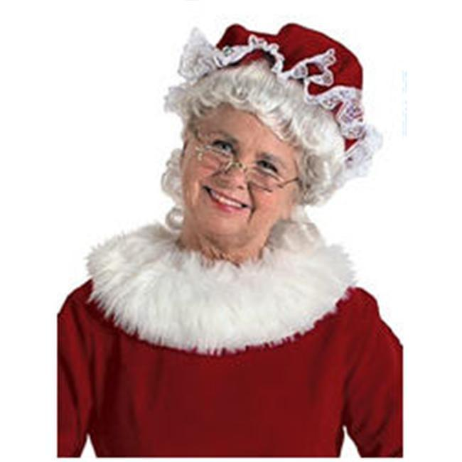 Halco 7951 Mrs Claus Velvet Mop Hat Red