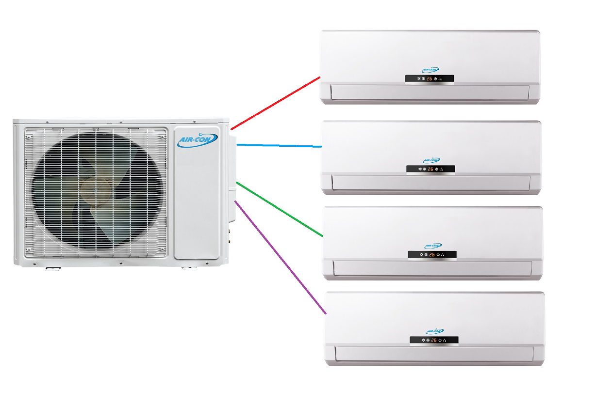 Aircon Custom Built Multi Zone Ductless Mini Split System on central air conditioners