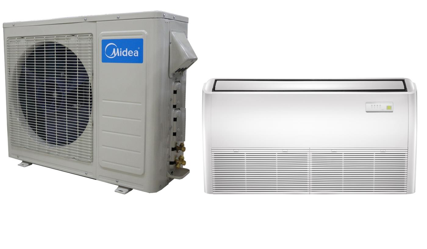 Midea 48000 btu 18 seer universal mount mini split heat for 1800 btu window air conditioner