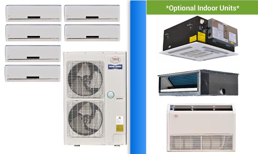 Ymgi 6 Zone Mini Split Heat Pump Ac Multi Zone System