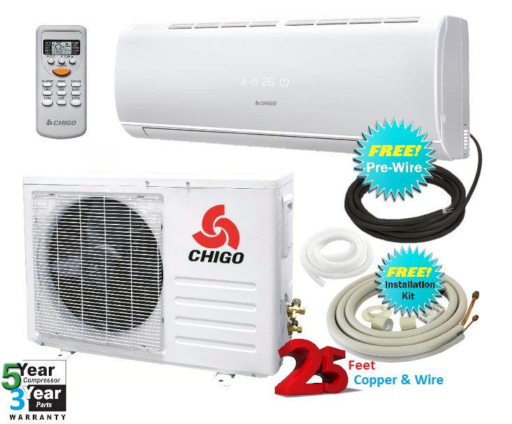 Chigo 9000 Btu 20 Seer 110v Mini Split Heat Pump Air
