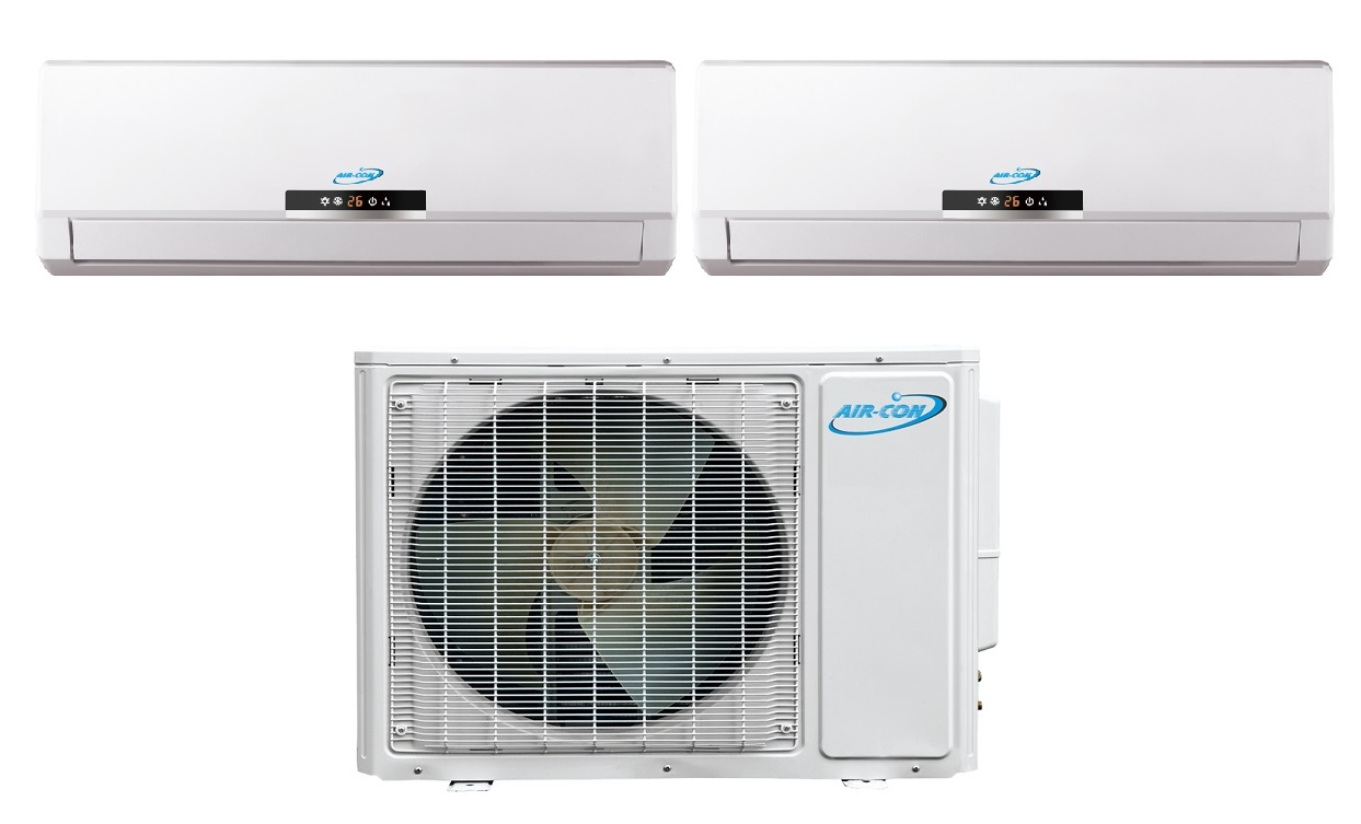 Aircon Dual Zone 9000 9000 Btu 16 Seer Mini Split Heat Pump Ac