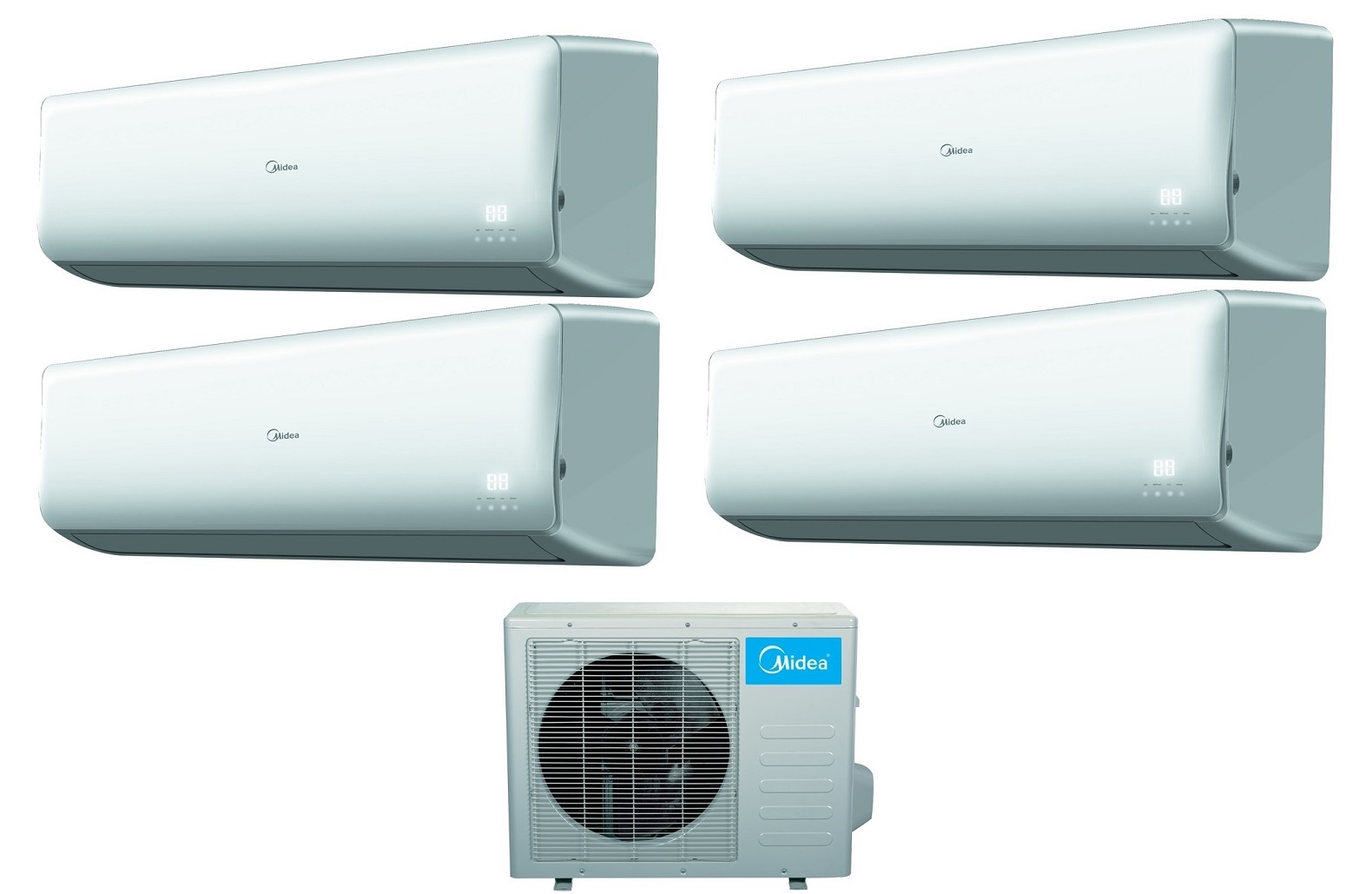 Midea 16 Seer 4 Room 4x12000btu Quad Zone Mini Split Heat Pump AC #0190CA