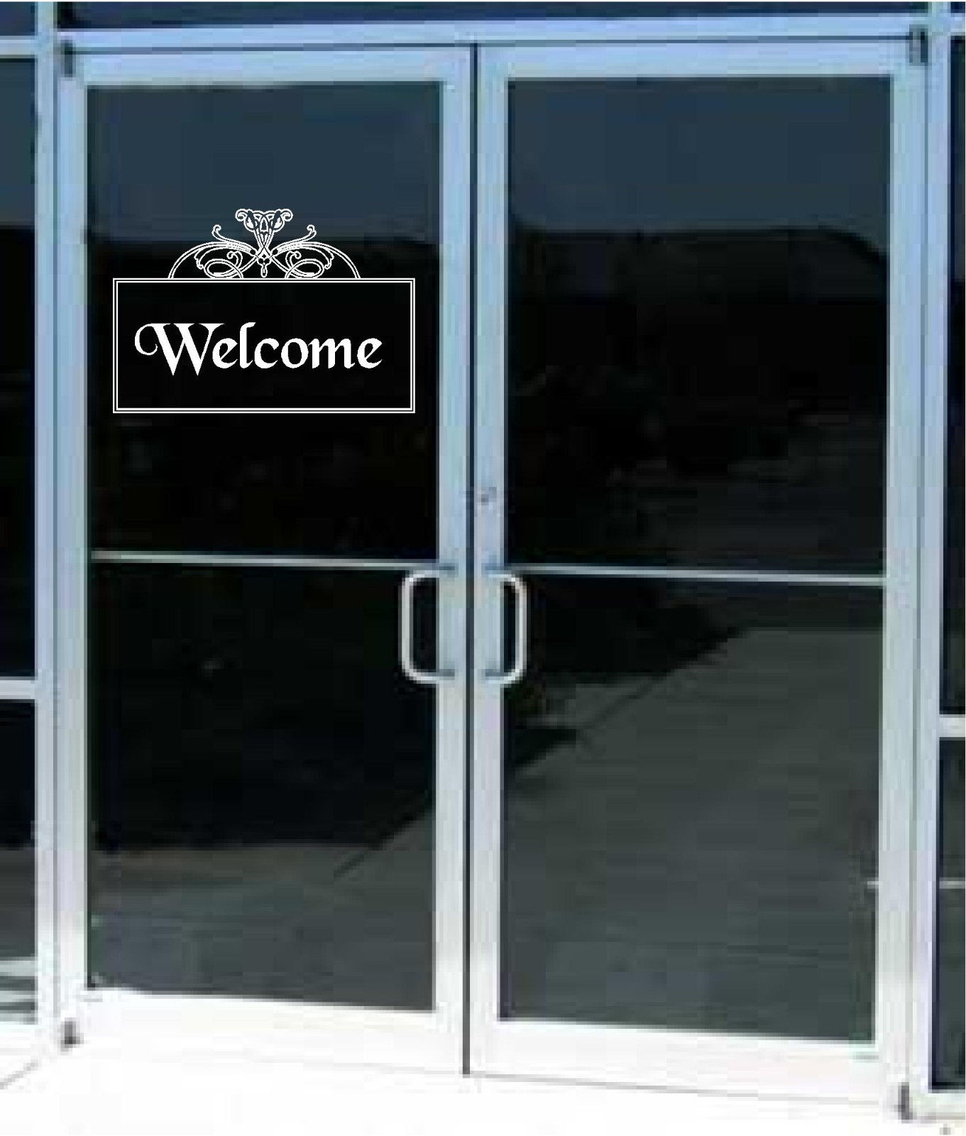 Store Welcome Sign Business Vinyl Decal Sticker Sign