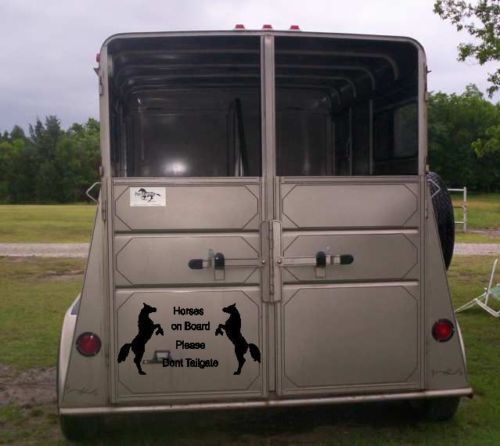 Horses On Board Please Don T Tailgate Horse Trailer Decal
