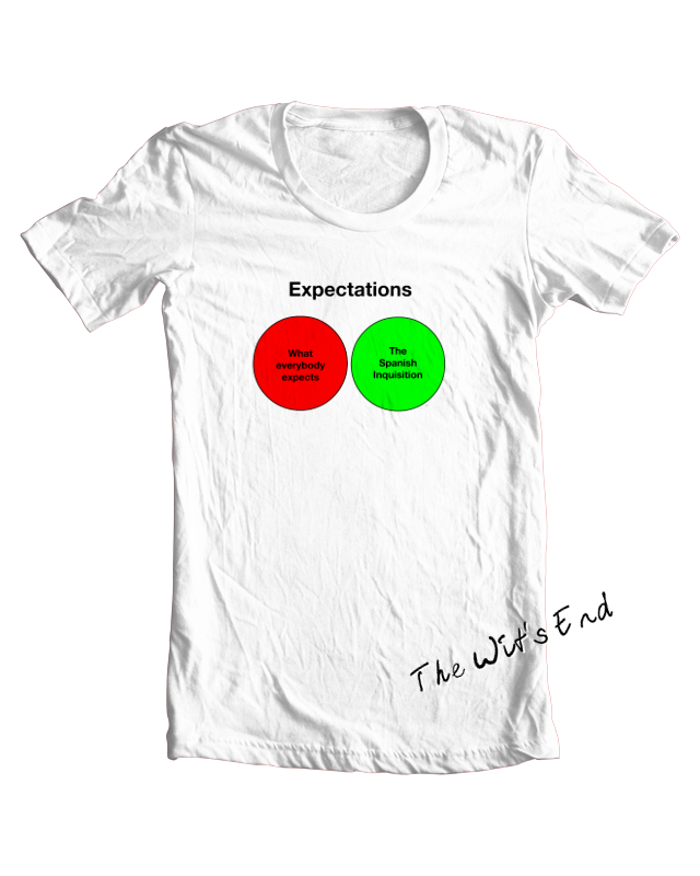 Nobody Expects the Spanish Inquisition Venn Diagram tee