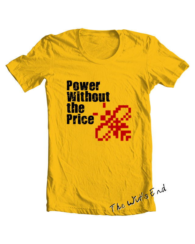 Atari ST Power without the price (with busy bee) tee shirt example