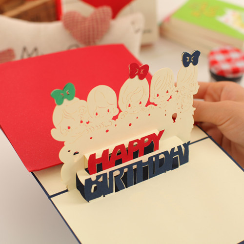 braille d pop up birthday party card  d popup birthday cards, Birthday card