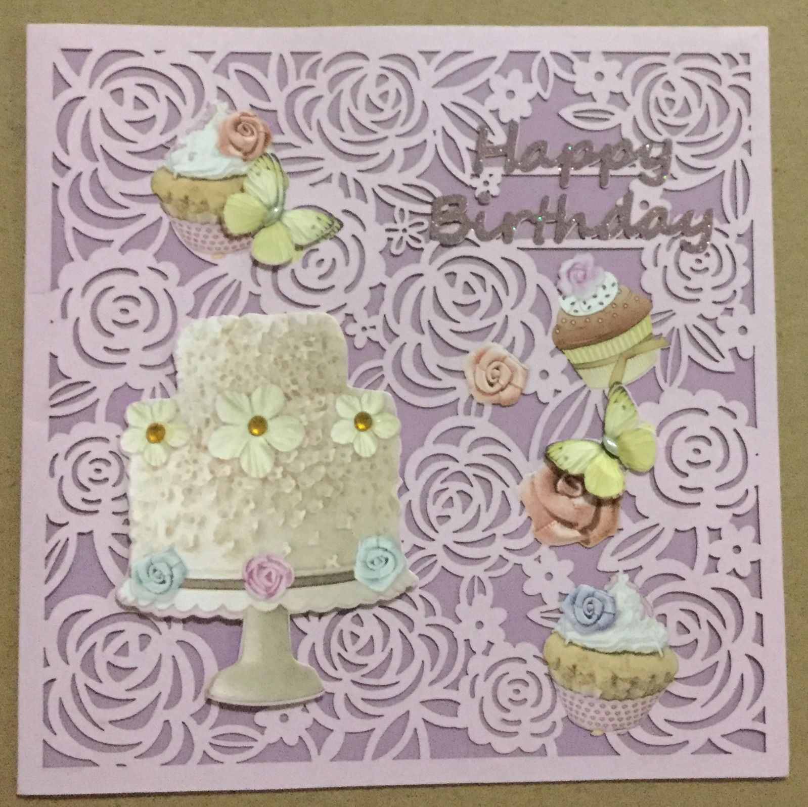 Braille Birthday Card With Glittering Candles