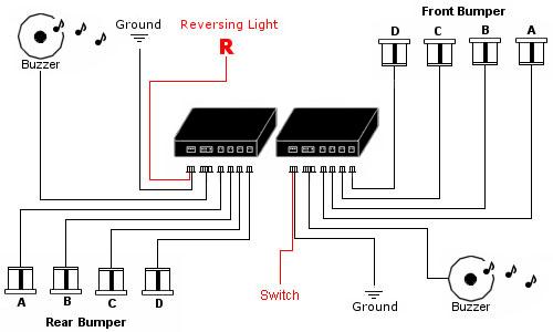 DPPK1 - Front & Rear Sensors - Front Audio Alerts with Rear Audio Alerts