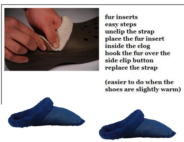 fad374f89ad Fur Insoles For Clogs, Crocs, Mules, Replacement Inserts Shoe Liners