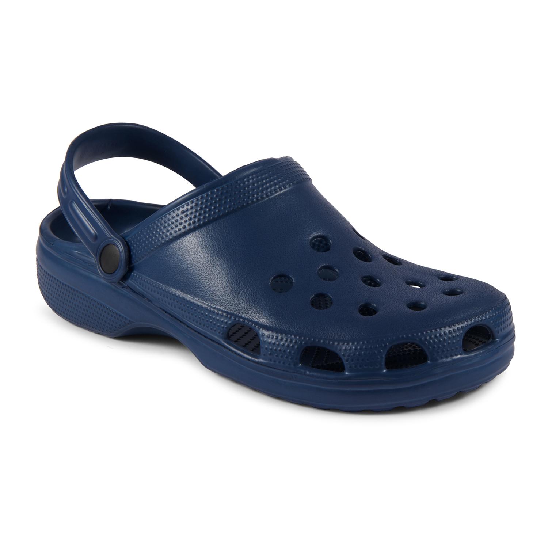 Navy Clogs Beach Sandals Garden Shoes Slip On Cloggis